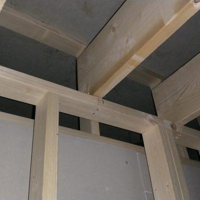 Pose de la structure bois